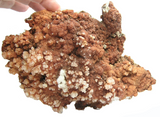 Aragonite Included with deep orange hematite, Aesthetic Mineral Specimen, Large Display Sample