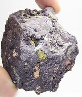 Rare Bastnasite in purple fluorite rock New Mexico Mineral Specimen