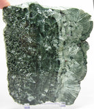 Seraphinite Clinochlore Rare feather stone, Green with silver wings chatoyancy Polished Siberia Gemstone Large Slice slab