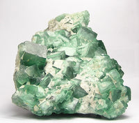 Fluorite, Large Cubic Crystal Cluster, Fluorescent, Tenebrescent, Emerald-Green, zoned mineral specimen