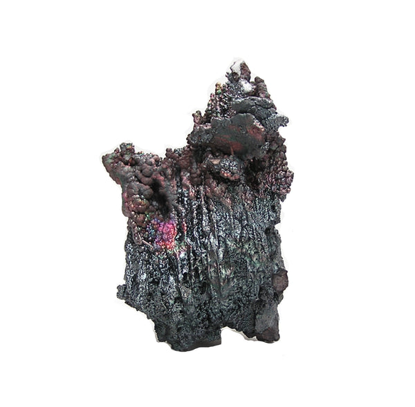 Iridescent Goethite aka Turgite Rainbow patina on metallic gray Mineral Specimen, Arkansas Mineral
