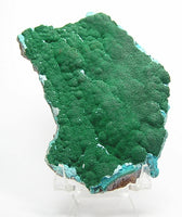 Malachite on Chrysocolla rock matrix Copper Mineral from Congo Africa