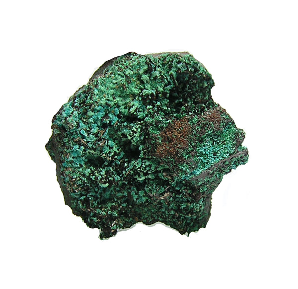Murdochite Rare black mineral with Rosasite, Malachite and Goethite.  Mexican Mines