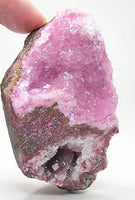 Sphaerocobaltite with Pink Calcite Crystal Cluster,  African Mineral Specimen