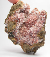 Hemimorphite with red Hematite Natural Inclusion Mined in Mexico. Aesthetic Display Mineral Specimen