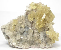 Barite Baryte Crystals with Clear Fluorite on Rock Matrix Large Display Mineral Specimen