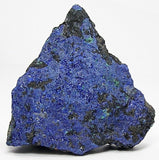 Azurite Crystalline Druzy on Rock Matrix mined in Arizona, American USA Mineral Specimen, Lapidary Stone Rough