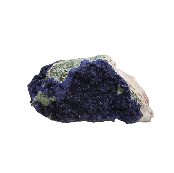 Azurite Druse Crystal Rosettes Cluster on rock matrix Mineral Specimen Copper Mine Stone Morenci Arizona