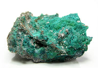 Dioptase Crystalline Emerald Green Druzy on Rock Matrix with Malachite Mineral Specimen Arizona Mines from a rockhound's estate collection