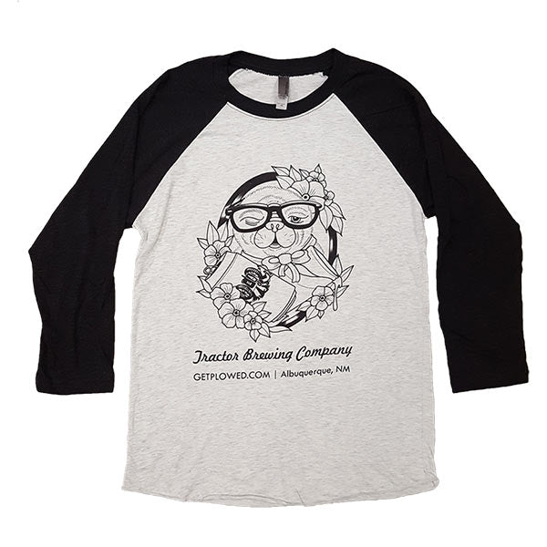 Pigg the Pug 3/4-Sleeve Baseball Tee (Unisex)