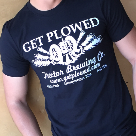 "White-on-black ""Get Plowed"" Tee (Unisex)"