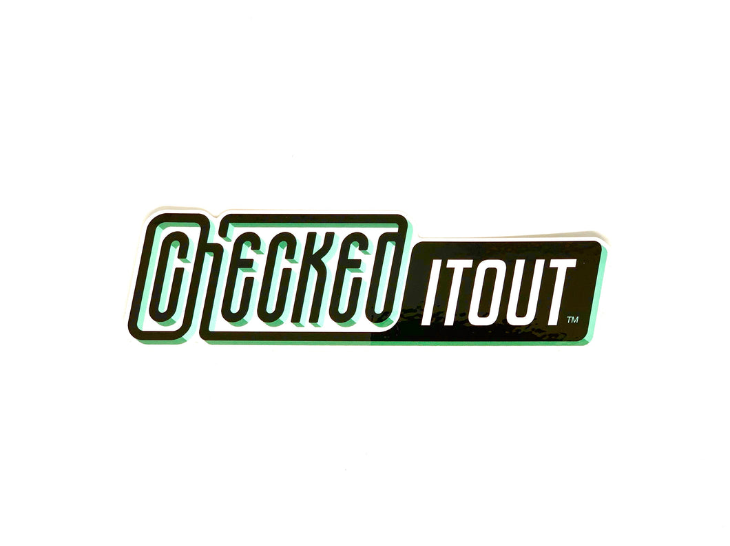 Checkeditout Logo Sticker - Extra Large
