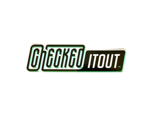 Checkeditout Logo Sticker - Medium
