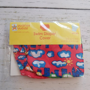 Water Wear Red Cars Swim Diaper Cover