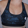 Midnight Blue Hexagon Sports Bra