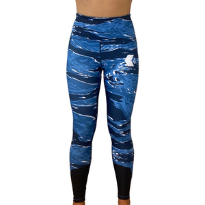 Midnight Blue Tiger Leggings - NOW IN STOCK