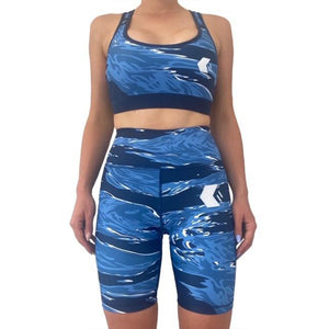Midnight Blue Tiger Shorts - NOW IN STOCK