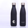 Soft Touch Stainless Steel Insulated Metal Drinks bottle - Black - 500ml