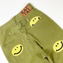 Load image into Gallery viewer, Kapital Kountry Smiley Olive Pants