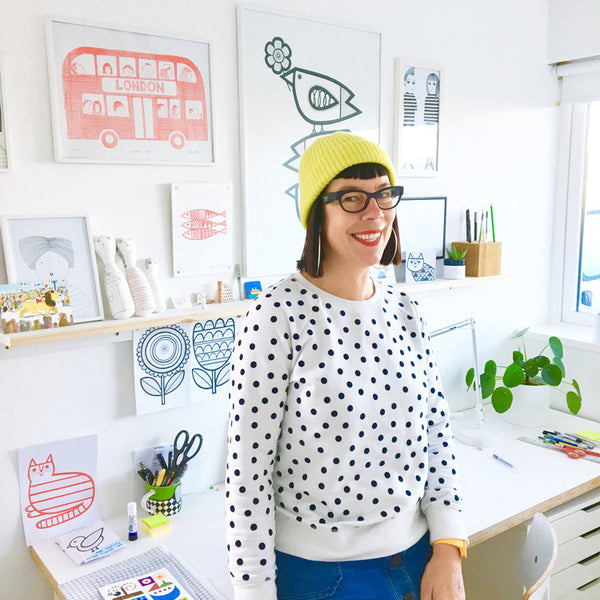 Designer Jane Foster in her studio