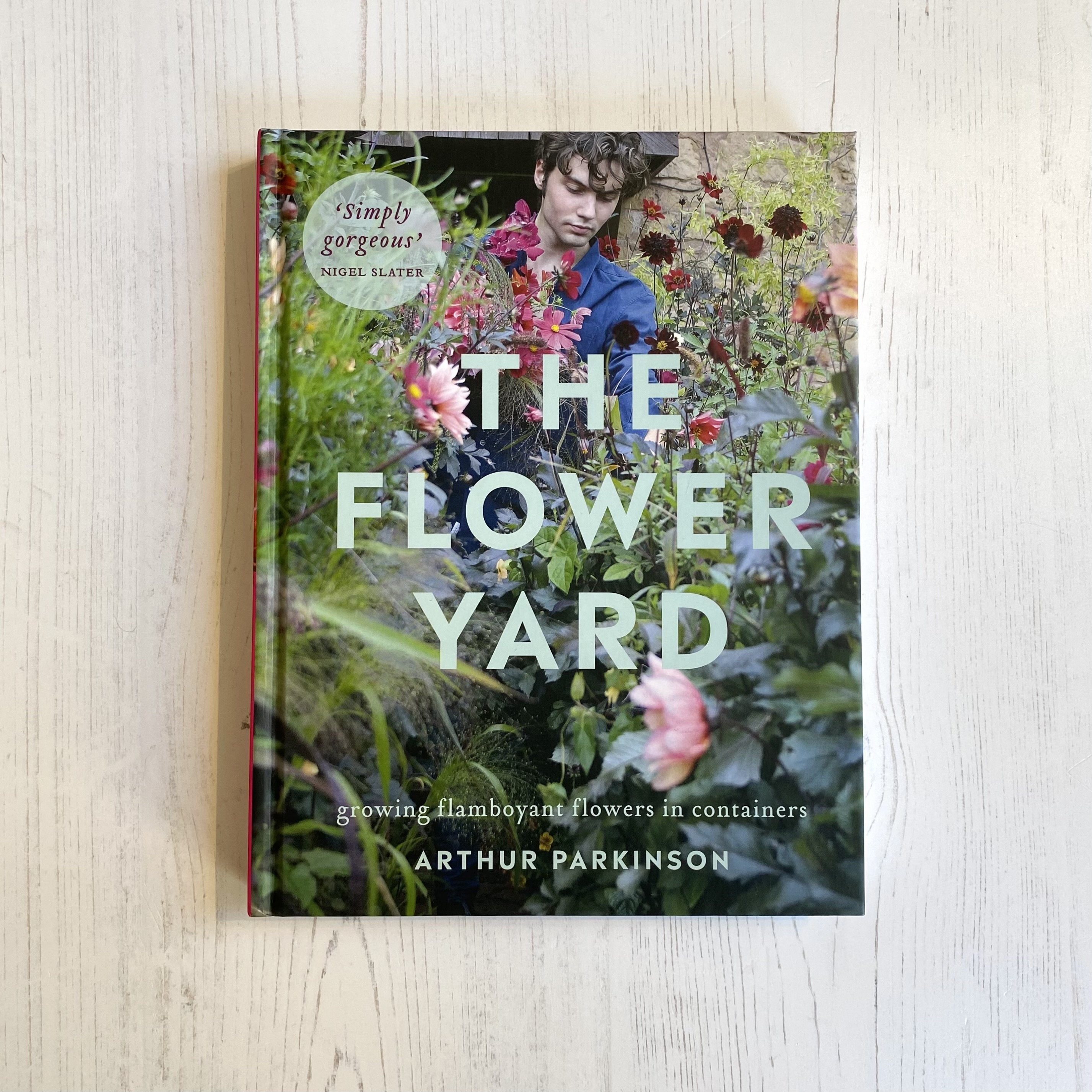 Book called Flower Yard with beautiful flowers on the cover