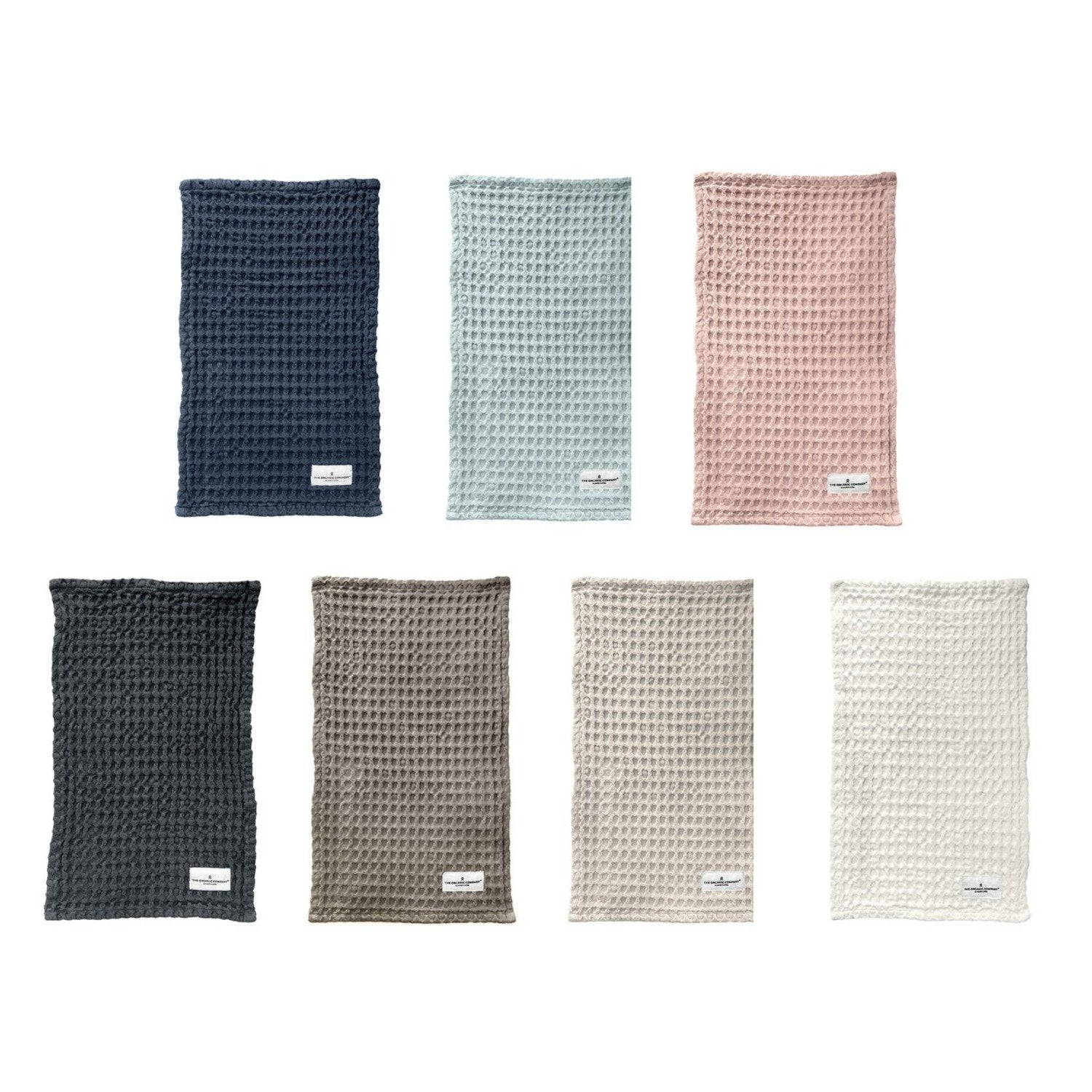 organic cotton waffle cloths - various colours