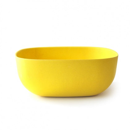 Large Bamboo Salad Bowl - Yellow