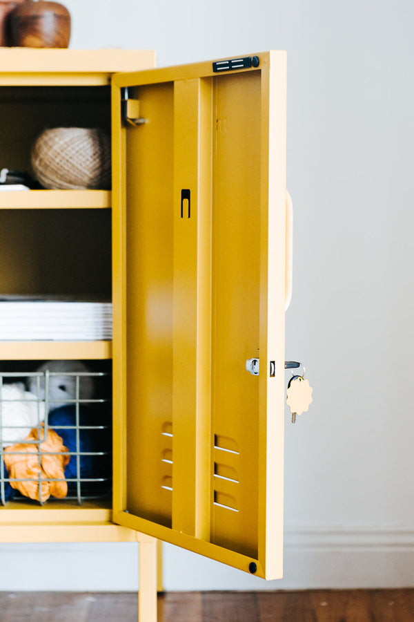 Short Mustard Yellow Locker