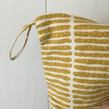 Fairtrade Mustard Stripe Print Toiletry bag