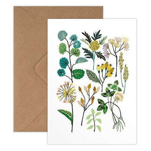 'Hedgerow' Greetings Card with Envelope