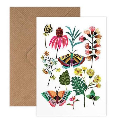 'Butterflies' Greetings Card with Envelope