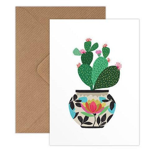 'Cactus' Greetings Card with Envelope