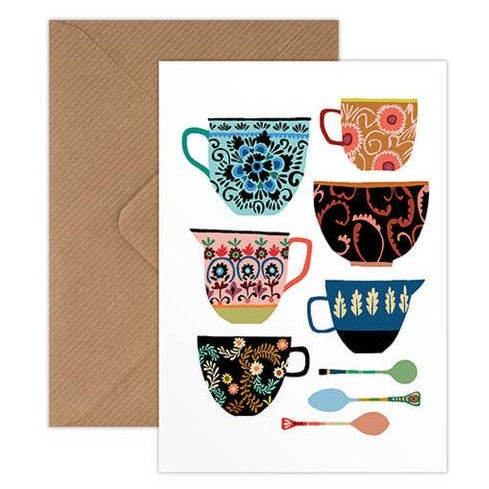 'Folk Collection' Greetings Card with Envelope