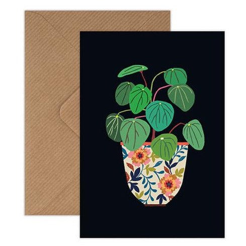 'Pilea' Greetings Card with Envelope
