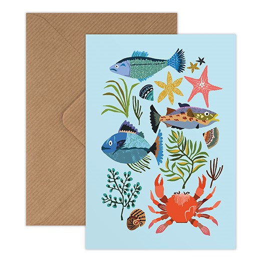 'Seaside' Greetings Card
