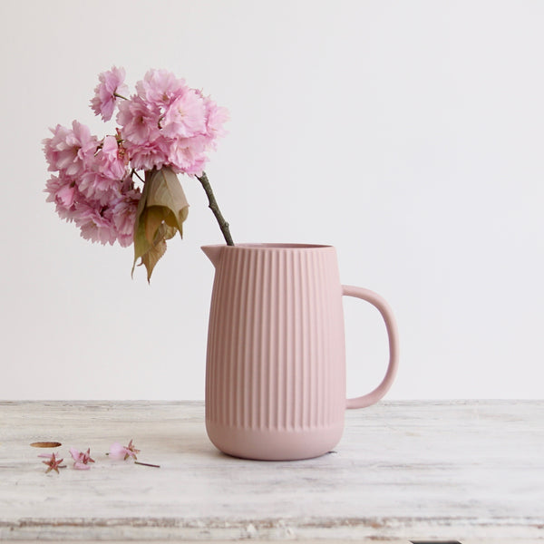 Dusty Pink Ceramic Jug
