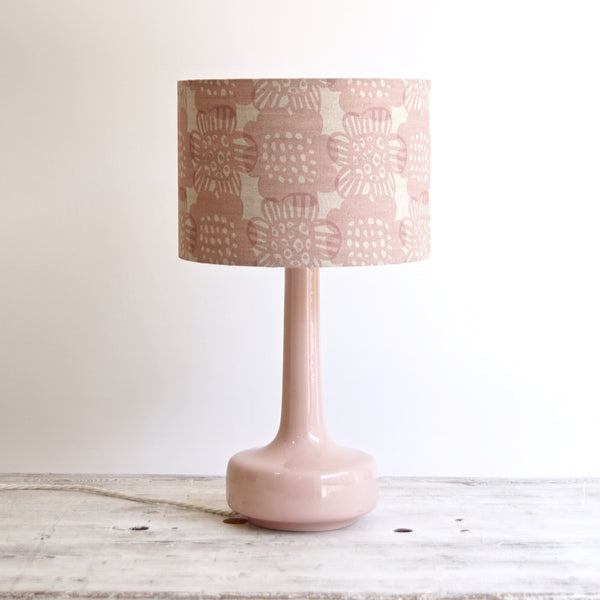 NEW! Bell Bottom Pink Table Lamp with Bloom Blush Shade
