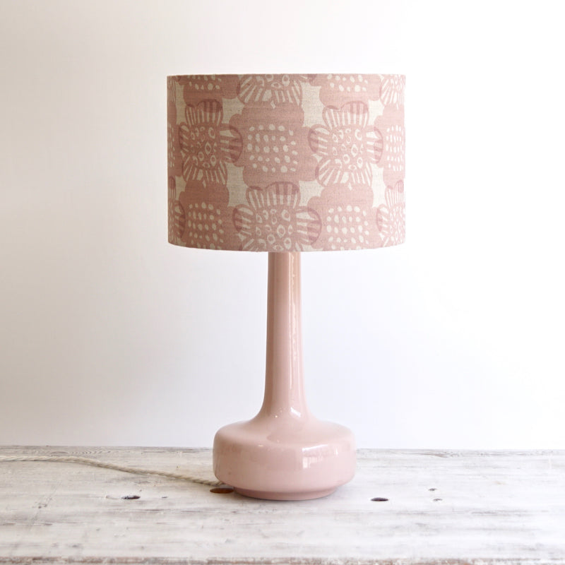 Bell Bottom Pink Table Lamp with Bloom Blush Shade