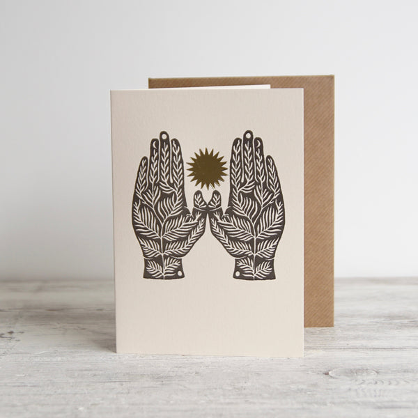 'Some Roots' Letterpress Greetings Card with Envelope