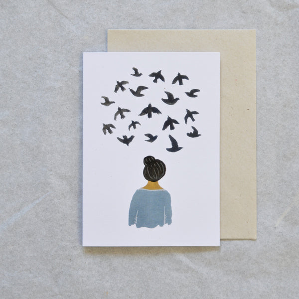 """Bird Thoughts"" Card"