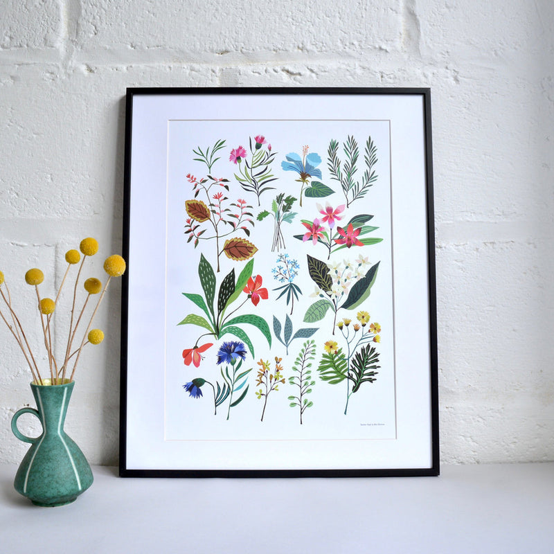 Floral 'Summer Plant' A3 Print
