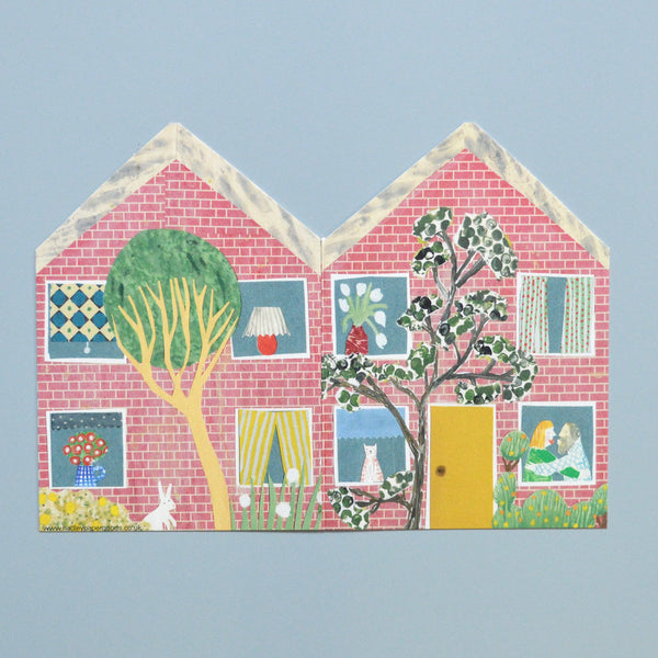 'Little Townhouse' Greetings Card with Envelope