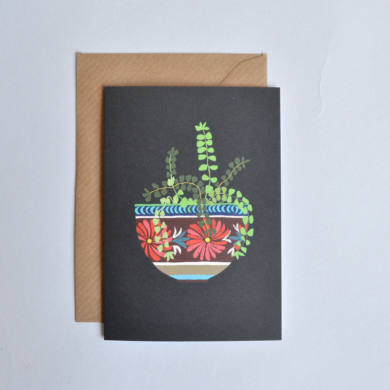 'Mexican Bowl' Greetings Card