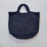 Macrame Jute Bag in Navy