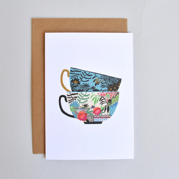 'Willow Cups' Greetings Card with Envelope