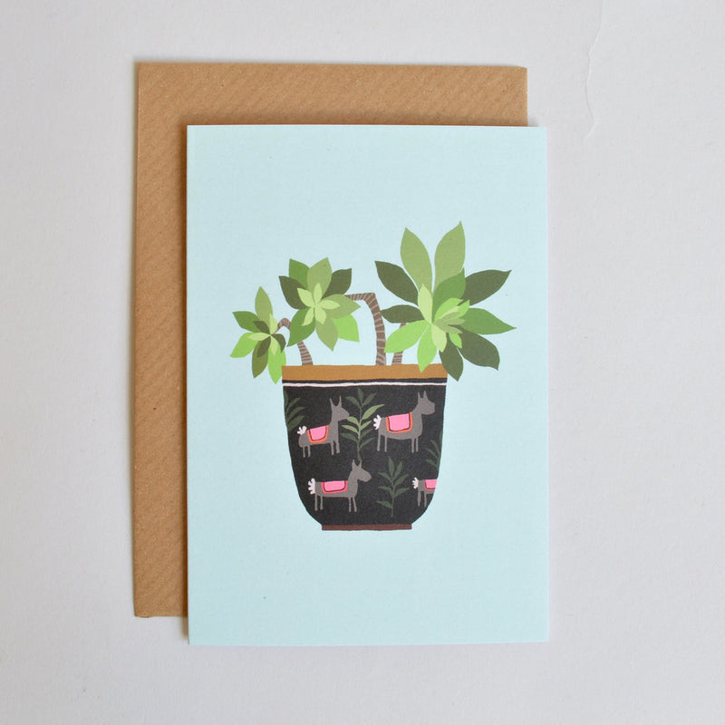 'Succulent' Greetings Card with Envelope