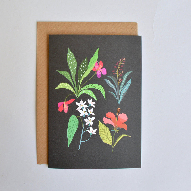 'Tropical Study' Greetings Card with Envelope