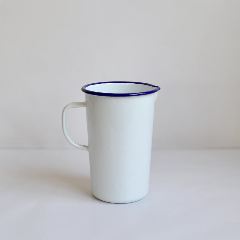 White Enamel 2 pint Jug