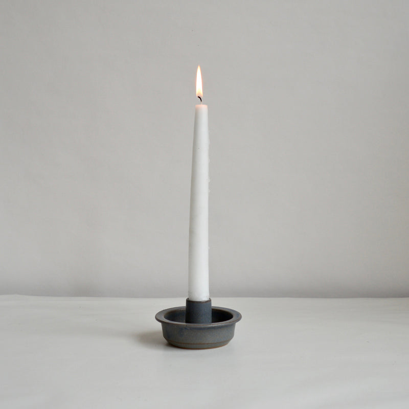 Fairtrade Grey Ceramic Candleholder