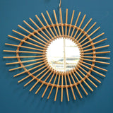 Rattan Elipse Sunburst Mirror - Natural